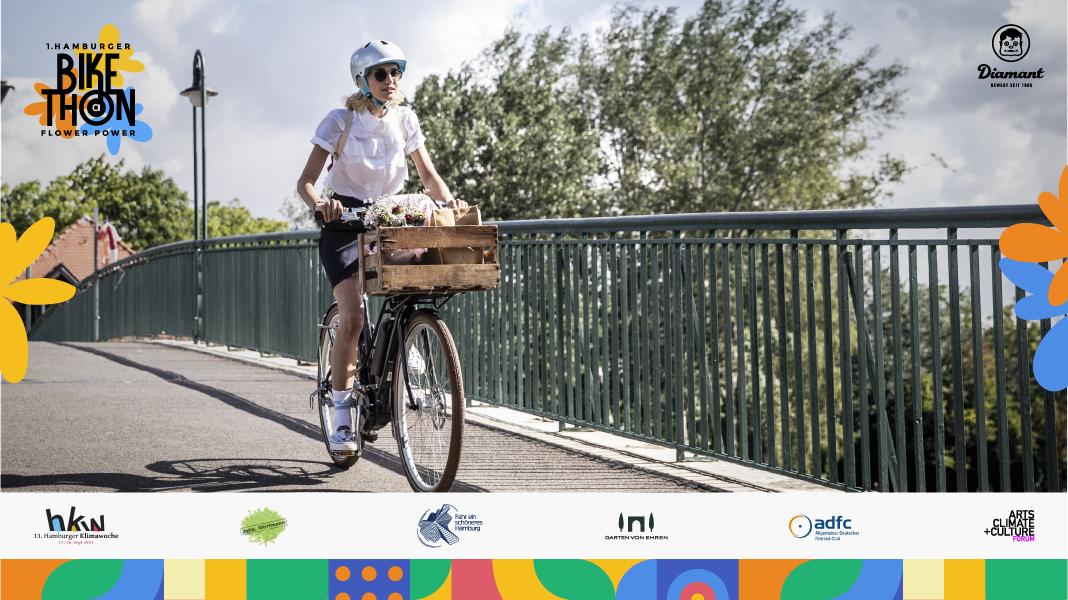1. Hamburger Flower Power Bike-A-Thon zur Klimawoche