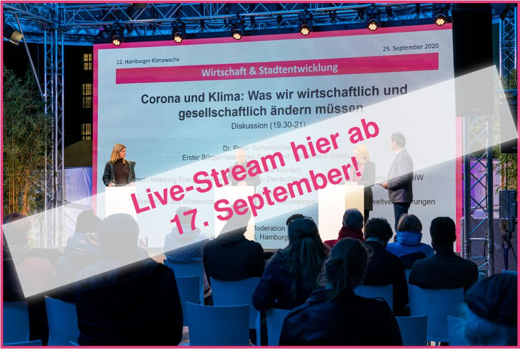 Livestream ab 17. September auf dieser Seite